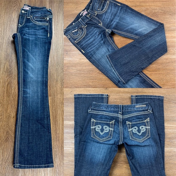 Express Denim - NWOT EXPRESS LOW RISE REROCK BARELY BOOT JEAN